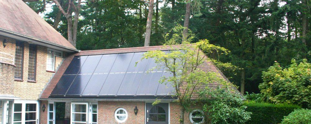Triple Solar PVT zonnepaneel op bestaande woningbouw