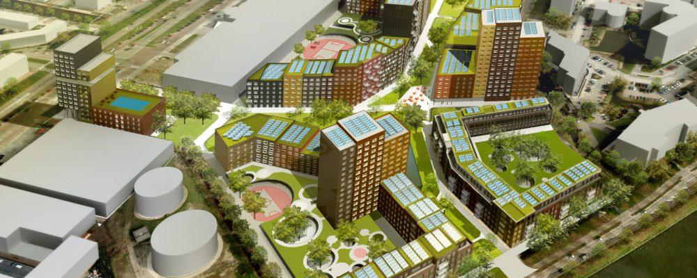PVT zonnepanelen met warmtepomp voor Studentenhuisvesting Leidse Schans