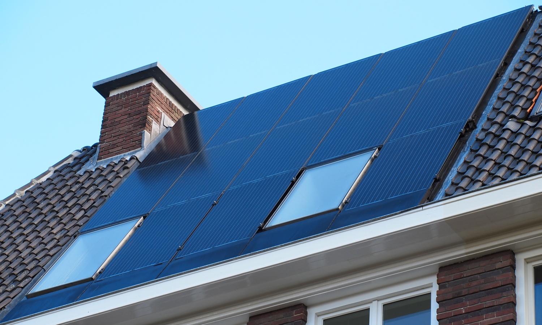 Triple Solar PVT paneel warmtepomp PVT panelen schuin dak ipv dakpannen 01