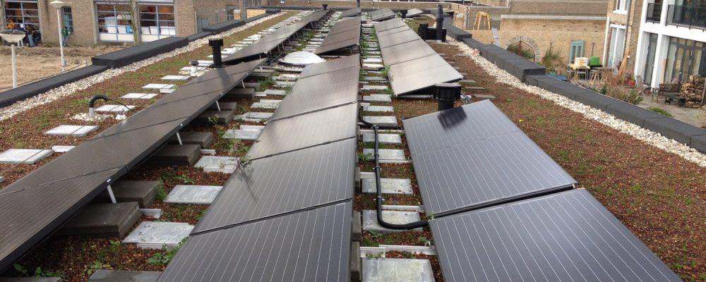 Triple Solar Amundsenhof PVT heat pump panels with green roof 01