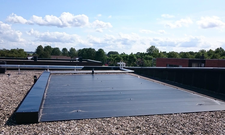 Triple Solar PVT panelen energiedak de Tas Biddinghuizen