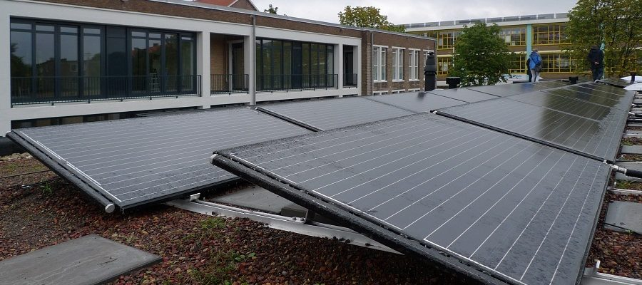 Triple Solar PVT warmtepomp paneel amundsen panelen Amundsenhof Amsterdam 32 PVT panelen