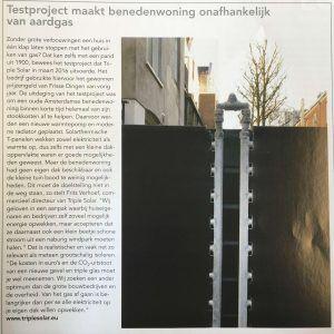 Warmtepomp met PVT paneel benedenwoning Amsterdam