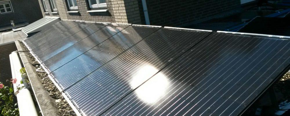 Opstelling Triple Solar PVT panelen