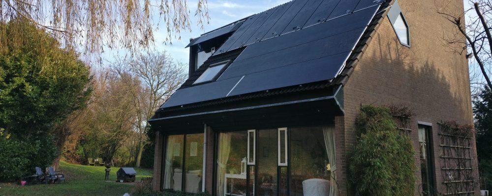 PVT heat pump panel Triple Solar house Van der Weide
