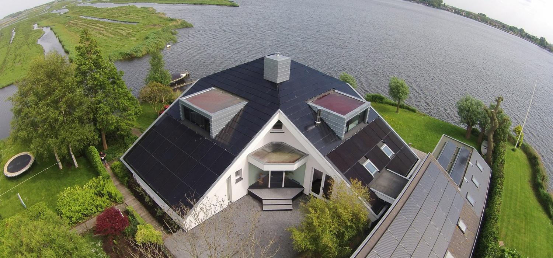 Triple Solar PVT zonnepaneel villa Wormer