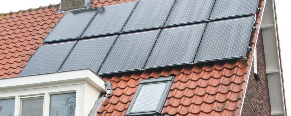 10 PVT heat pump panels on the traditional roof tiles Alwik