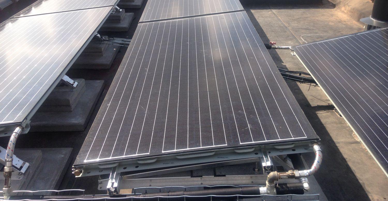 Triple Solar PVT zonnepaneel warmtepomp paneel bovendak