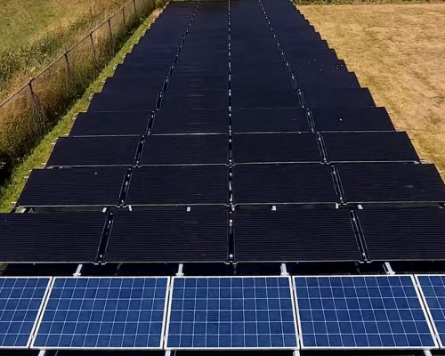 PVT panels, heat pump panels from Triple Solar - doesburg view