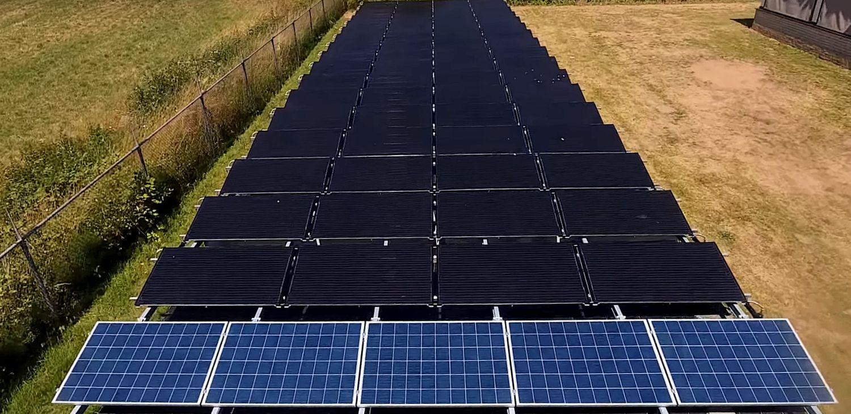 PVT panelen, warmtepomp panelen van Triple Solar - doesburg aanzicht