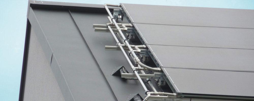 Triple Solar met zinkdak leidingwerk site