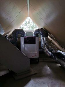 Zehnder-heat-recovery-system-on-attic-triple-solar