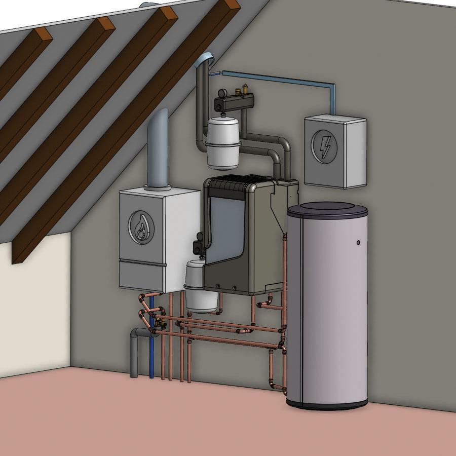 PVT-warmtepomp voor hybride toepassing